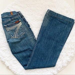 7FAM Dojo Flare Boho Lace Crochet Pocket 28x33